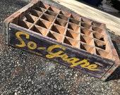 Very Rare Vintage 1940 39 s So Grape Soda Wood Crate