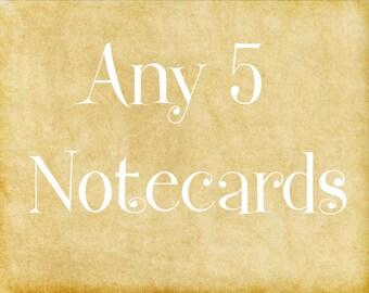 Notecards - Custom Cards - Set of 5 - Stationary - Photography