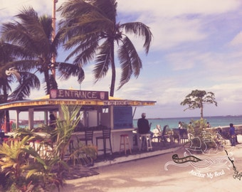 Beach Entrance Photograph - Nautical - Tropical - Islands - Quote - Pastels - Print - Stunning Color - Wall Art