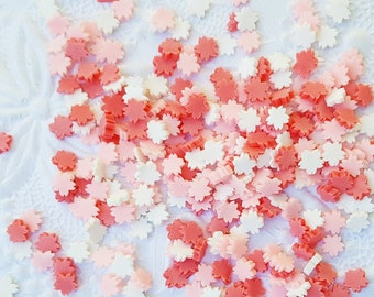 10 grams - 4mm Cherry Blossom Confetti, Polymer Clay Confetti, Glitter, Assorted Colors, Glitter Confetti, Confetti, Kawaii, Resin Glitter