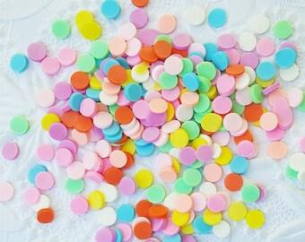 10 grams - 5mm Round Rainbow Confetti, Polymer Clay Confetti, Glitter, Assorted Colors, Glitter Confetti, Confetti, Kawaii, Resin Glitter