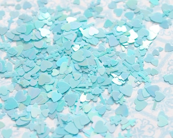 5 grams - 3-6mm  Blue Assorted Goth Glitter, Pastel Glitter, Glitter, Glitter Confetti, Confetti, Kawaii, Resin Glitter, Crosses and Heart