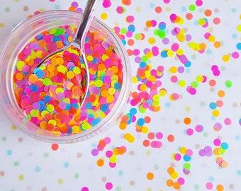 5 grams - 3mm Neon Round Glitter, Neon, Glitter, Neon Glitter Confetti, Confetti, Kawaii, Resin Glitter