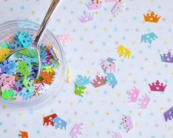 5 grams - 8mm Rainbow Glitter Crowns, Crown Glitter, Glitter, Rainbow, Glitter Confetti, Confetti, Kawaii, Resin Glitter