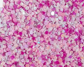5 grams - 1mm Pink Glitter Dots, Pastel Round Glitter, Glitter, Pink, Glitter Confetti, Confetti, Kawaii, Resin Glitter