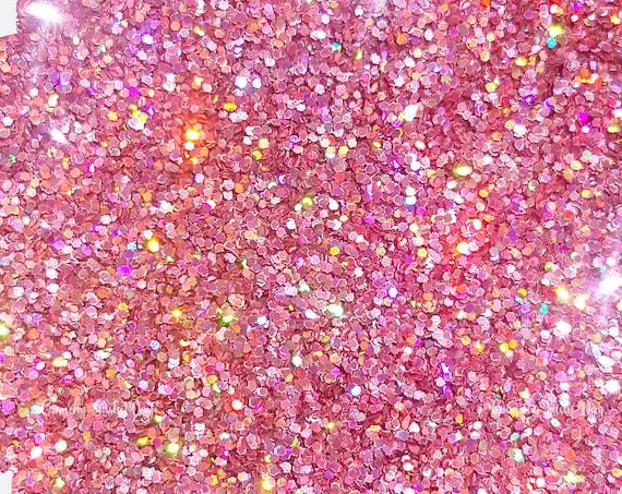 15 grams- 0.4mm Pink Ultra Fine Glitter, High Quality Holographic Glitter, Glitter, Glitter Confetti, Confetti, Kawaii, Resin Glitter