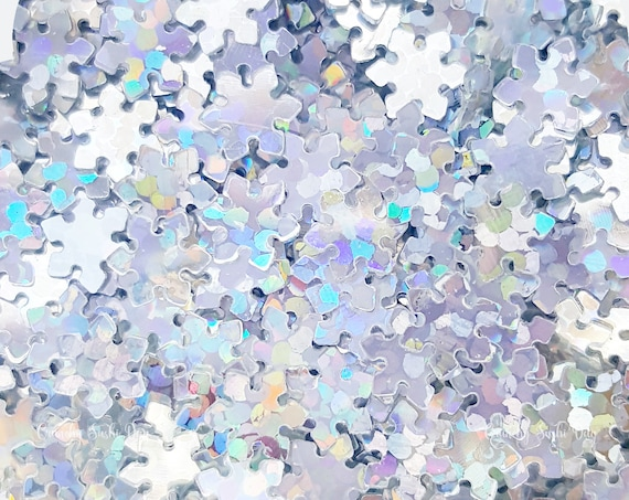 5 grams - 5mm Silver Snowflake Glitter, Holographic Glitter, Glitter, Silver, Glitter Confetti, Confetti, Kawaii, Resin Glitter