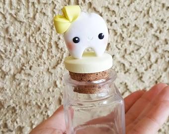 Customizable Girl Bow Tooth Fairy Box, Tooth Fairy Jar, Tooth Fairy Keepsake, First Tooth, Tooth Fairy, Trinket Box, Keepsake, Polymer Clay