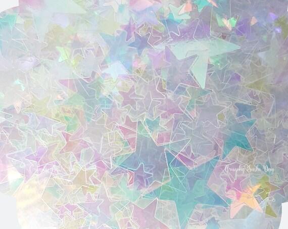 5 grams - 3-8mm Holographic Star Glitter, Star Glitter, Glitter, Pink, Purple, Blue, Glitter Confetti, Confetti, Kawaii, Resin Glitter