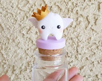 Purple Crown Tooth Fairy Box, Tooth Fairy Jar, Tooth Fairy Keepsake, First Tooth, Tooth Fairy, Trinket Box, Keepsake, Polymer Clay