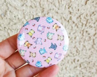 """Fandom 2.25"""" Eevee Pinback Button, Geek Button, Geekery, Button, Kawaii Button, Badges, Flare"""