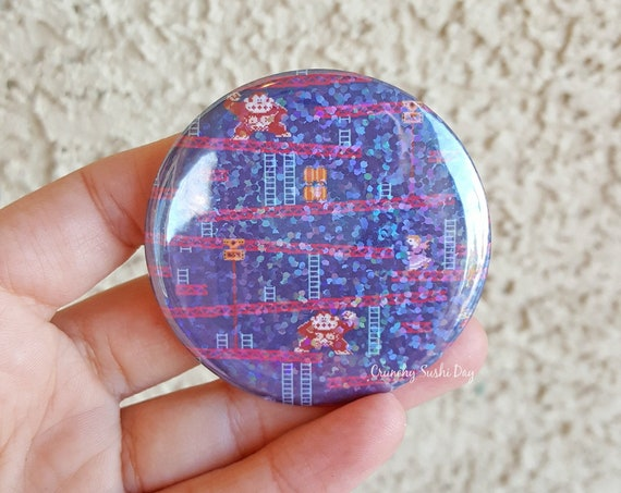 "Fandom 2.25"" Retro Games Pinback Button, Geek Button, Geekery, Button, Kawaii Button, Badges, Flare"