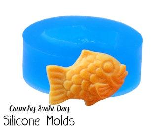 Miniature Taiyaki Fish Mold, Carp Fish Resin Mold, Silicone Mold, Epoxy, Polymer Clay Mold, Charm Mold, Kawaii, Resin Mold, UV Resin Mold
