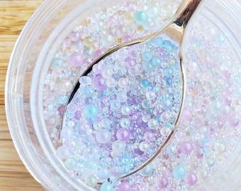 10 grams- 0.4-3mm No Hole Round Caviar Pearls, Pastel Pearls, Acrylic Pearls, Loose Caviar Beads, Pearl Confetti, Confetti, Pastel