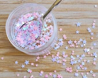5 grams - 3-5mm Pastel Star Glitter, Star Glitter, Glitter, Pink, Purple Glitter Confetti, Confetti, Kawaii, Resin Glitter
