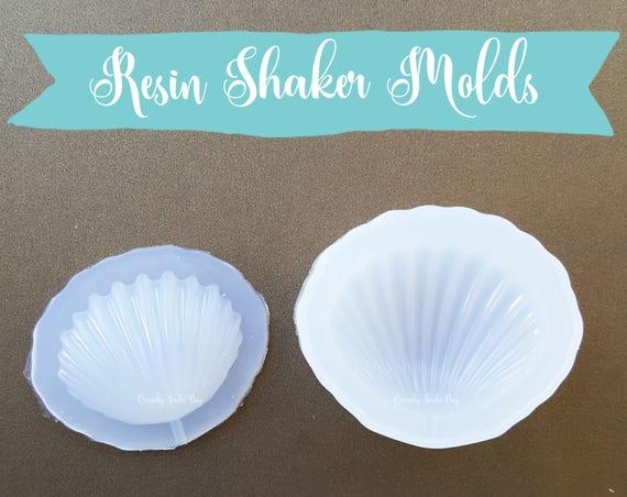 Puffy Shell Resin Mold, Resin Shaker Mold, Silicone Mold, Epoxy, Shaker Mold, Charm Mold, Kawaii, Resin Mold, Hollow Mold, UV Resin Mold