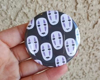 """2.25"""" No Face Pinback Button, Geek Button, Geekery, Button, Kawaii Button, Badges, Flare, Fanart, Fandom, Pin"""