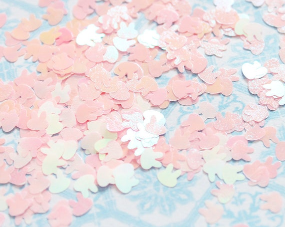 5 grams - 6mm Iridescent Pink Bunny Glitter, Rabbit Glitter, Glitter, Pink Glitter Confetti, Confetti, Kawaii, Resin Glitter