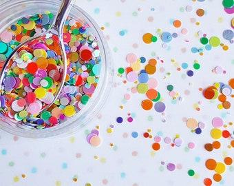 5 grams - 1-6mm Rainbow Round Glitter, Iridescent, Glitter, Pink, Purple, Blue, Glitter Confetti, Confetti, Kawaii, Resin Glitter
