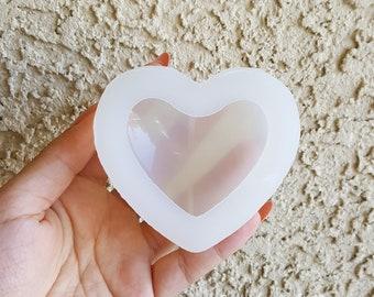 Cute Deep Puffy Heart Mold, Resin Mold, Silicone Mold, Epoxy, Mold, Charm Mold, Kawaii, Resin Mold, Mold, UV Resin Mold