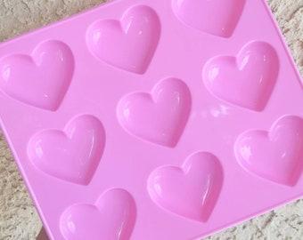 9 Cavity Shiny Puffy Heart Mold, Heart Resin Mold, Silicone Heart Mold, Epoxy, Kawaii Mold, Resin Mold, Puffy Heart Mold, UV Resin Mold