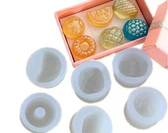 6 pcs Mini Candy Mold Set, Resin Mold, Silicone Mold, Epoxy, Shaker Mold, Charm Mold, Kawaii, Resin Mold, Mold, UV Resin Mold