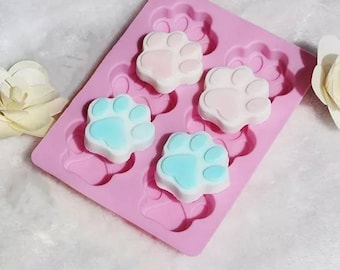 Cute Paw Mold, Resin Mold, Silicone Mold, Epoxy, Shaker Mold, Charm Mold, Kawaii, Resin Mold, Hollow Mold, UV Resin Mold