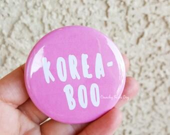 "2.25"" Koreaboo Pinback Button, Korean, Anime, Funny, Geek Button, Geekery, Button, Kawaii Button, Badges, Flare, Pin, Kawaii"