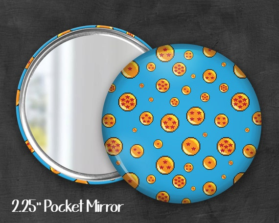 "2.25"" Dragon Pocket Mirror, Geek Pocket Mirror, Geekery, Mirror Button,  Kawaii Mirror, Pocket Mirror, Fanart, Fandom"
