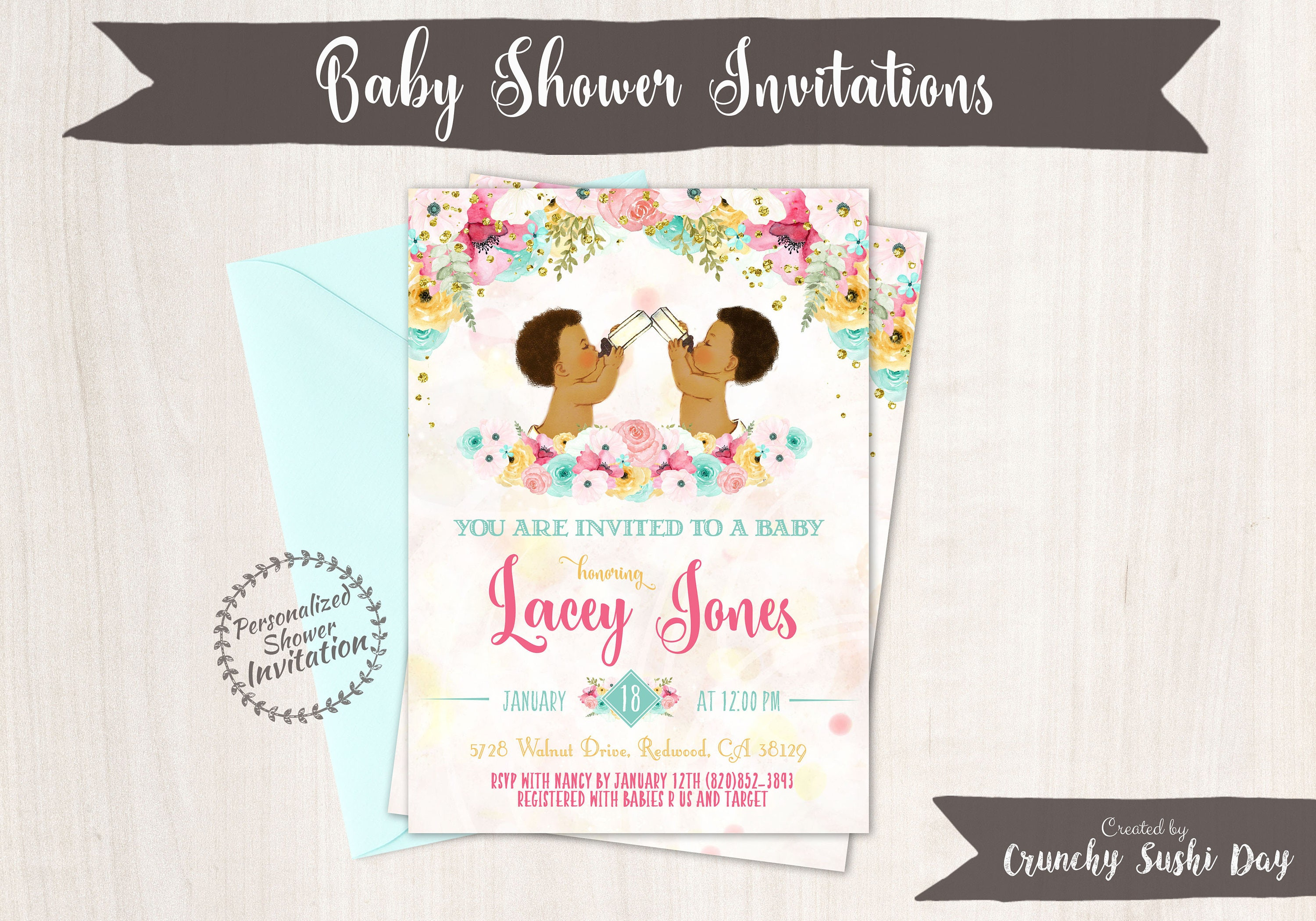 Twins Boys, African American Vintage Baby Boy, Baby Shower ...