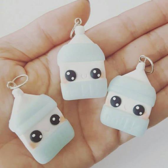 Kawaii Milk Charm, Milk Polymer Clay Pendant, Milk, DS Charm, polymer clay, clay pendant, Kawaii, Chibi, Clay Charm