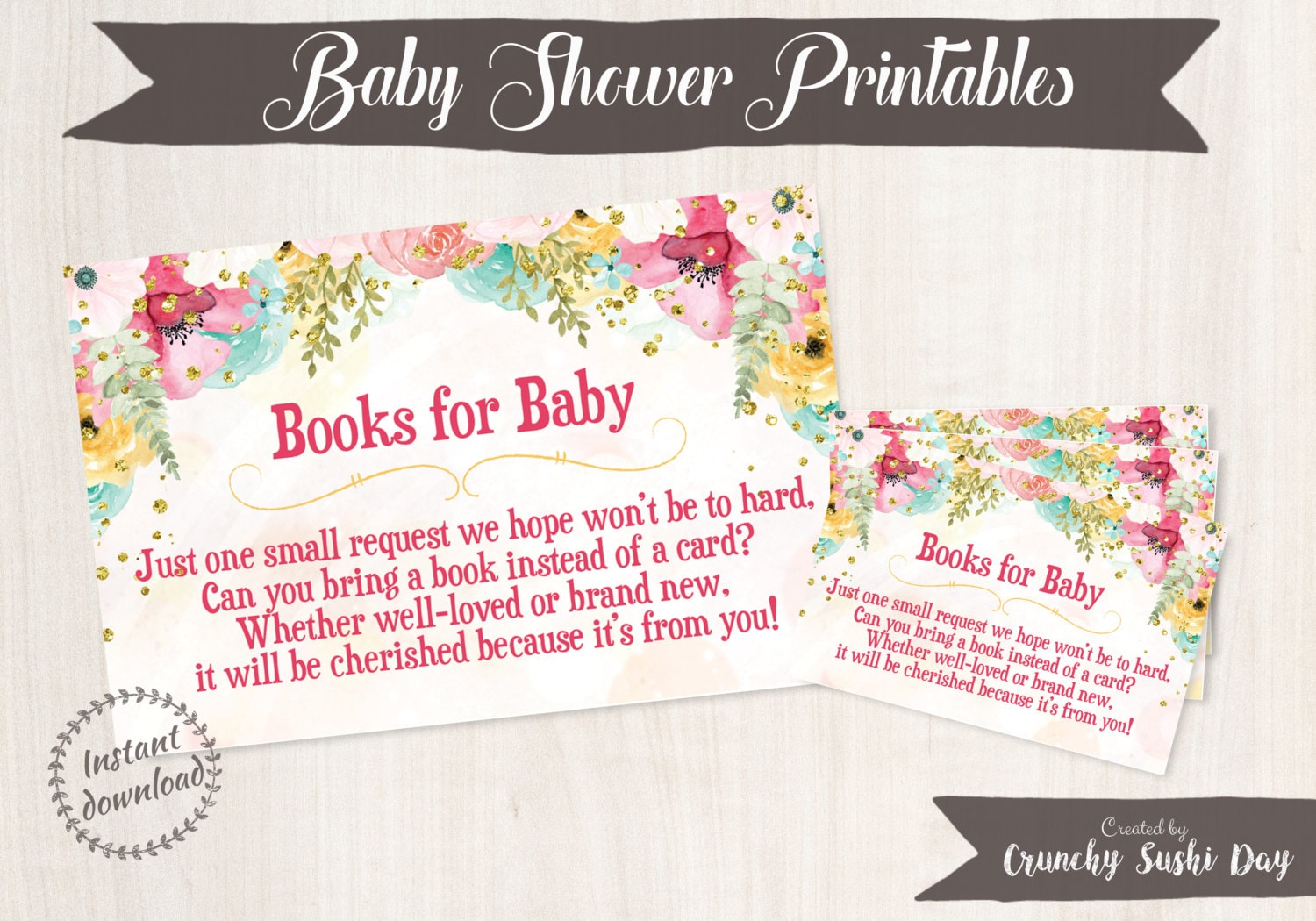 Printable Baby Shower Book Insert Bring A Book Card Books For Baby