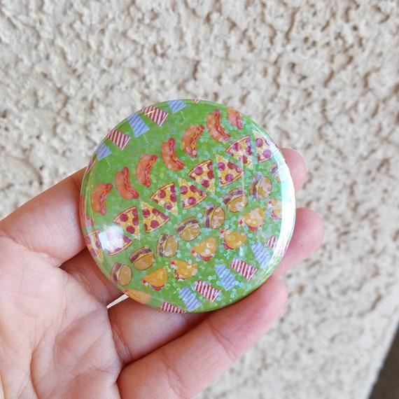 "2.25"" Junk Food Pinback Button, Geek Button, Geekery, Button, Kawaii Button, Badges, Flare, Pin, Kawaii, Fairy Kei, Pastel Goth"