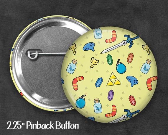 """Fandom 2.25"""" Link Pinback Button, Geek Button, Geekery, Button, Kawaii Button, Badges, Flare"""