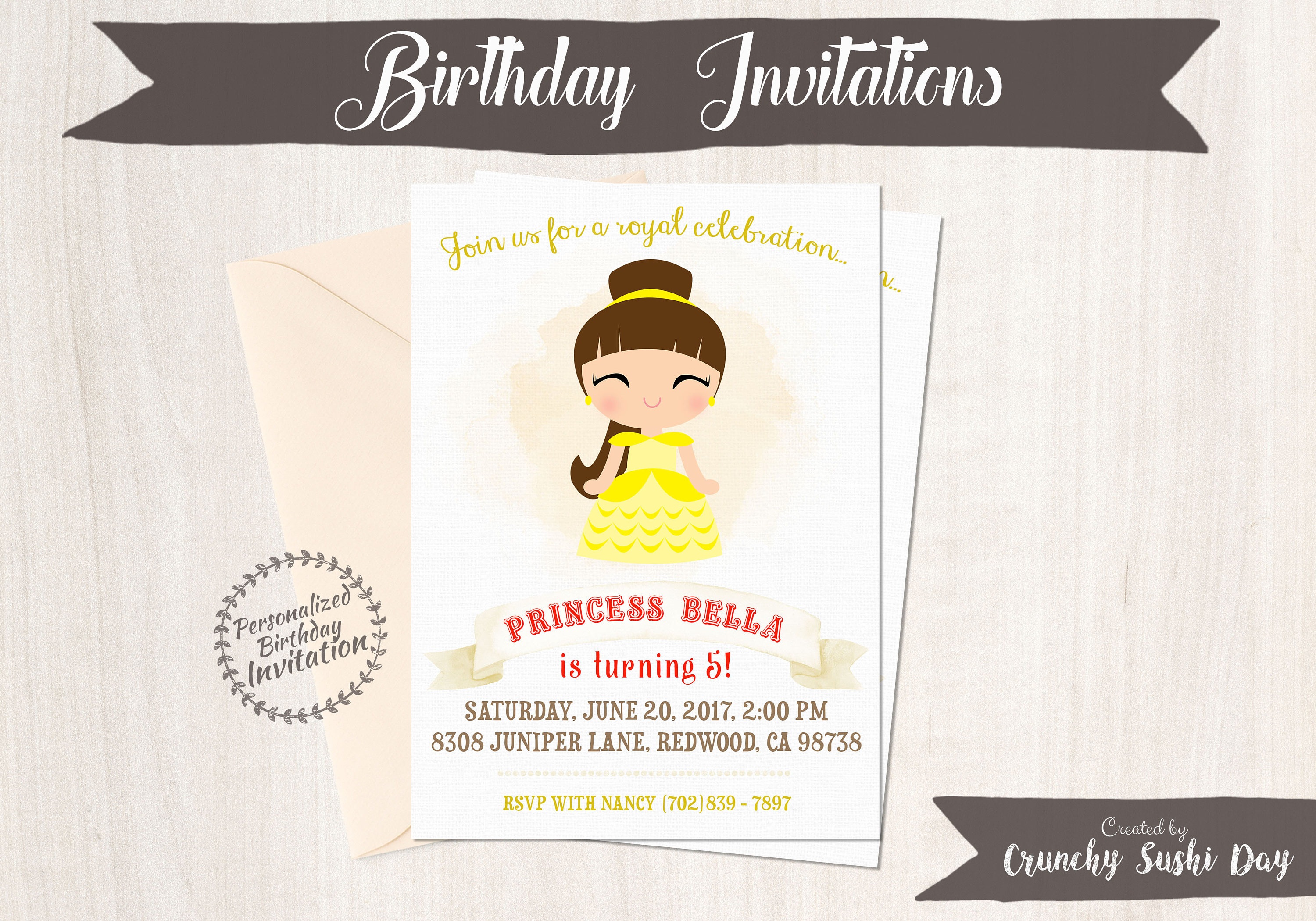 Princess belle customizable birthday invitations princess girl princess belle customizable birthday invitations princess girl birthday invitations beauty and the beast birthday printable belle 057 filmwisefo