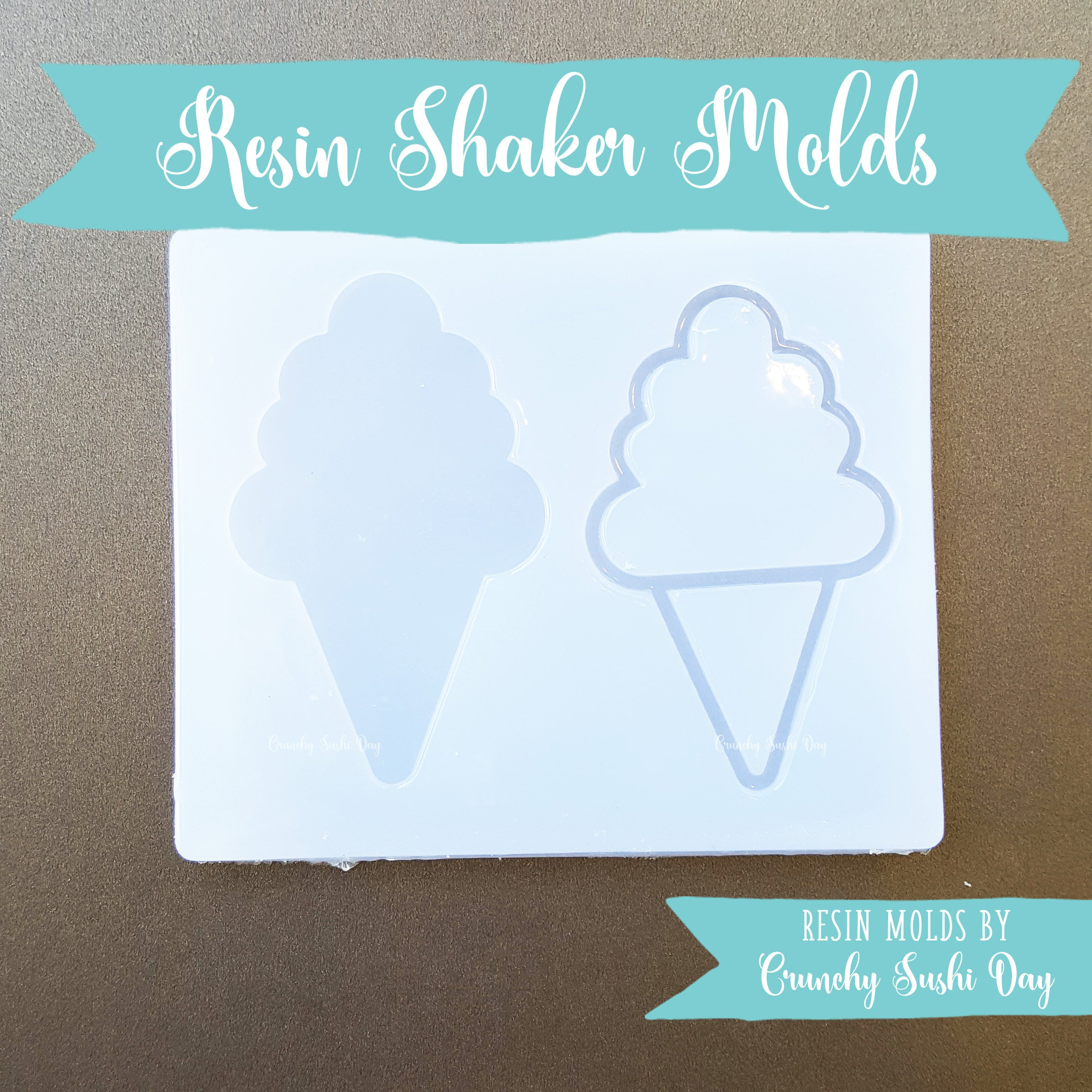 Ice Cream Cone Shaker Mold, Resin Shaker Mold, Silicone