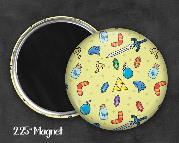 """Fandom 2.25"""" Link Magnet, Geek Magnet, Geekery, Magnet Button,  Kawaii Magnet, Refridgerator Magnet"""