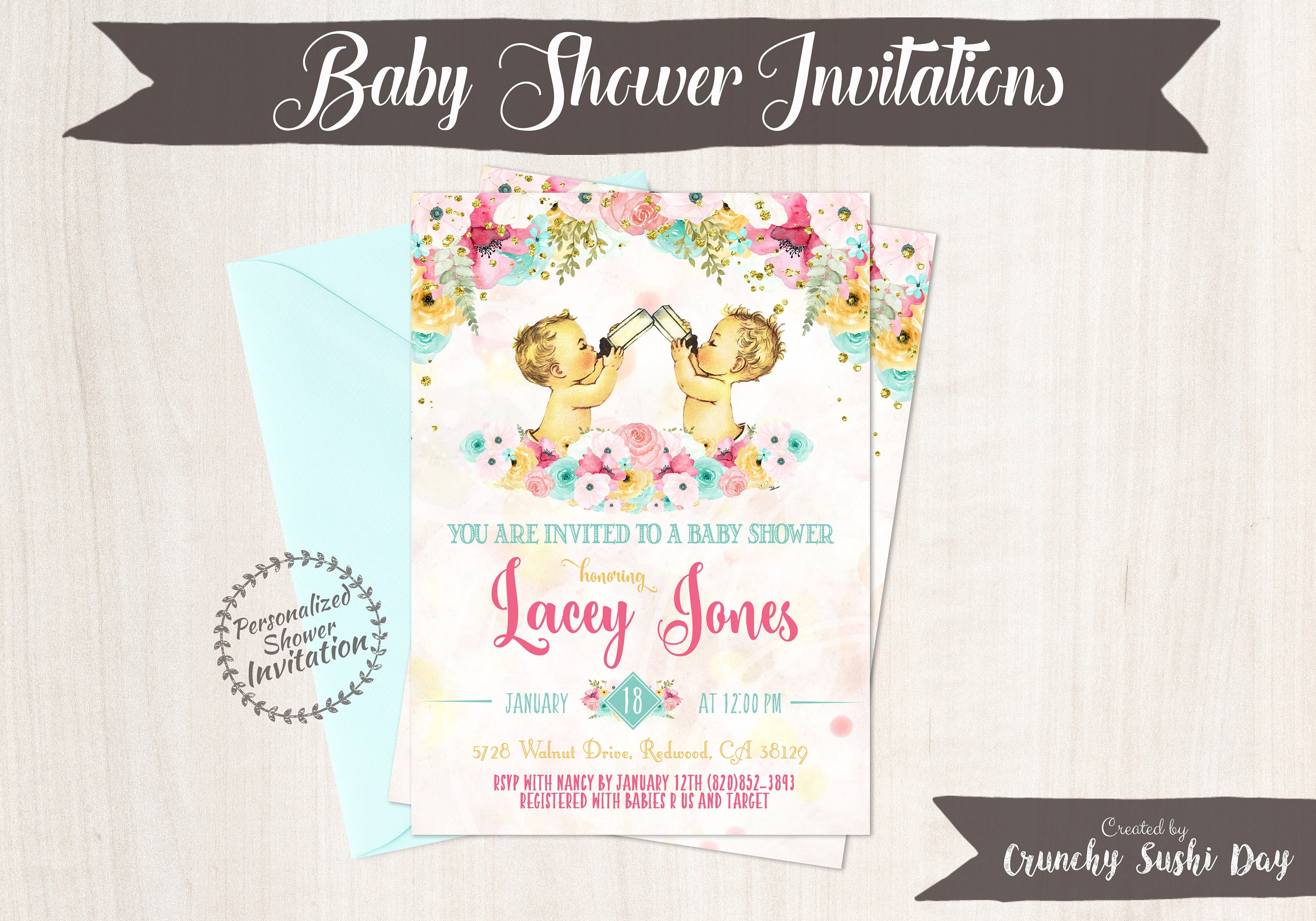 Twin boys vintage baby boy baby shower invitations baby shower twin boys vintage baby boy baby shower invitations baby shower invitation printable invitations baby boy teal pink floral 001 filmwisefo