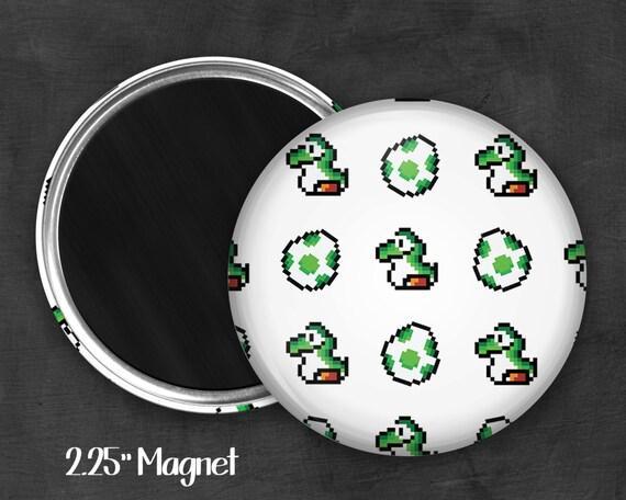 """Fandom 2.25"""" Yoshi Magnet, Geek Magnet, Geekery, Magnet Button,  Kawaii Magnet, Refridgerator Magnet"""