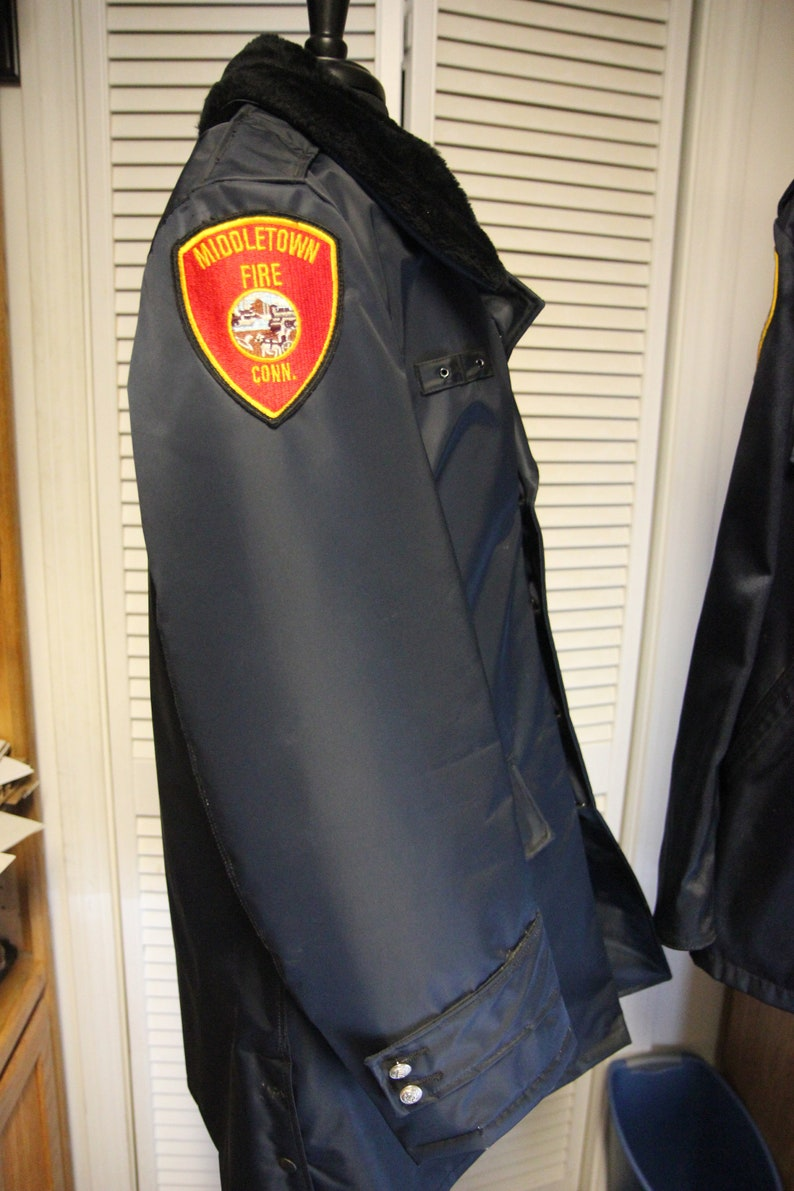 Vintage Connecticut Fireman/'s Jacket Circa 1970s 44R XL