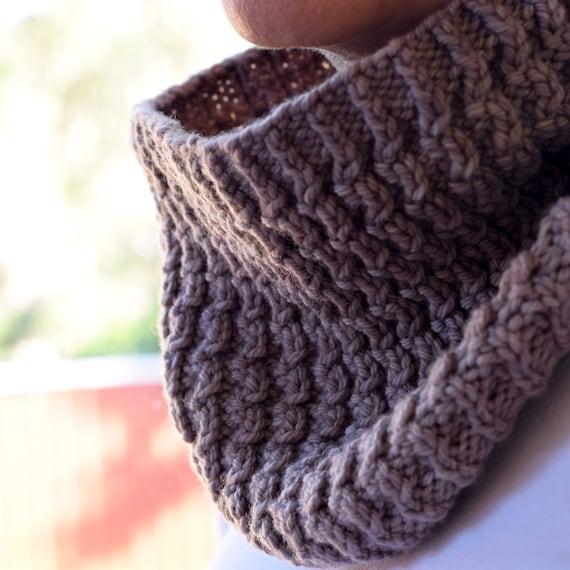 Textured Rib Knit Cowl Pattern ARALUEN COWL Knitting Pattern   Etsy
