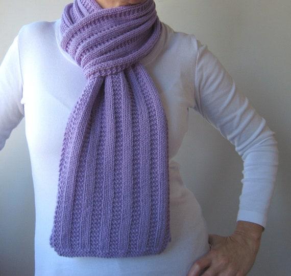 Garter Rib Texture Knit Scarf Pattern Garter Ribbed Scarf Etsy