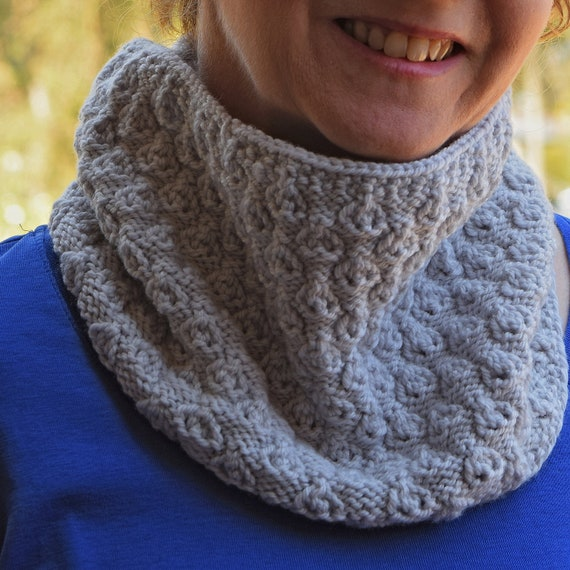 Textured Lace Knit Cowl Pattern LINDEN COWL Knitting Pattern   Etsy