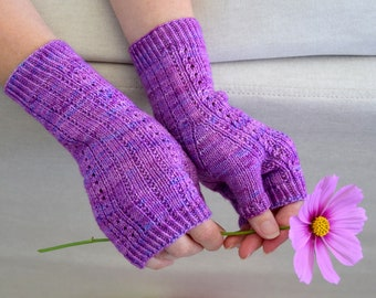 KNITTING PATTERN - Cadence Fingerless Mitts (Adult Extra Small, Small, Medium, Large, Extra Large sizes) Digital Download PDF
