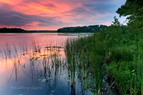 Chain O Lakes State Park Sunset Landscape Photograph Turner Etsy