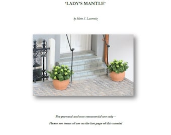 INSTANT DOWNLOAD - 1:12 Scale Miniature flower tutorial  - 'Ladys Mantle' - personal use only (ENGLISH) (Tu02)