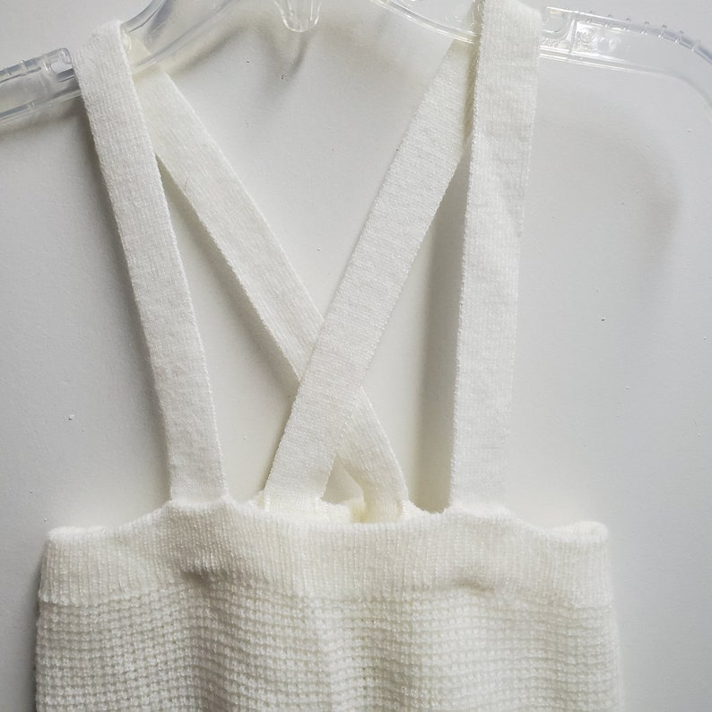 Infant Unisex Size 69 months Christmas Outfit Vintage Off White Sweater and Knit Footed Overalls by Lord and Taylor small creations