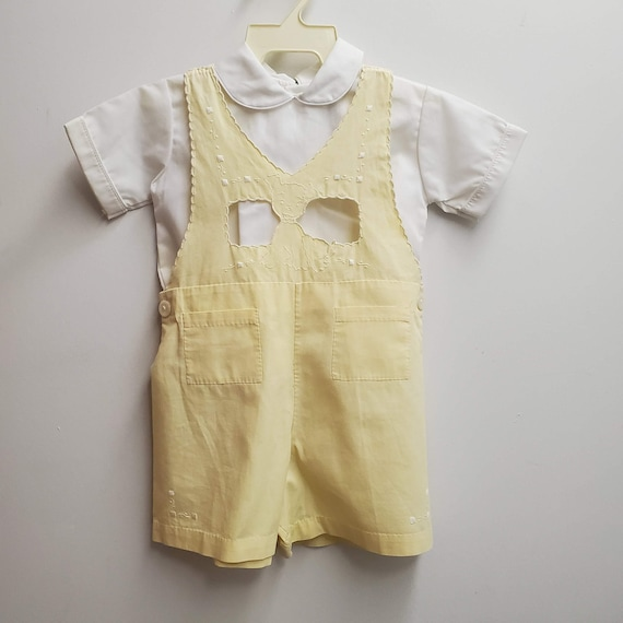 boys retro outfit- boys Easter outfit rompers Pinafore Easter boys outfit Christening outfits- flower girl dress blessing boy