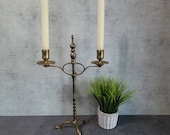 Adjustable Brass 2 Light Claw Foot Candelabra