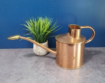 Vintage Copper Watering Can Retro Watering Can Swiss Made Indoor Watering Can, 1950s Copper Houseplant Watering Can
